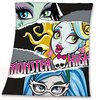 "Monster High Decke Vliesdecke ""Faces"" auf schwarzem Vlies ca. 120 x 140 cm - Monster High"
